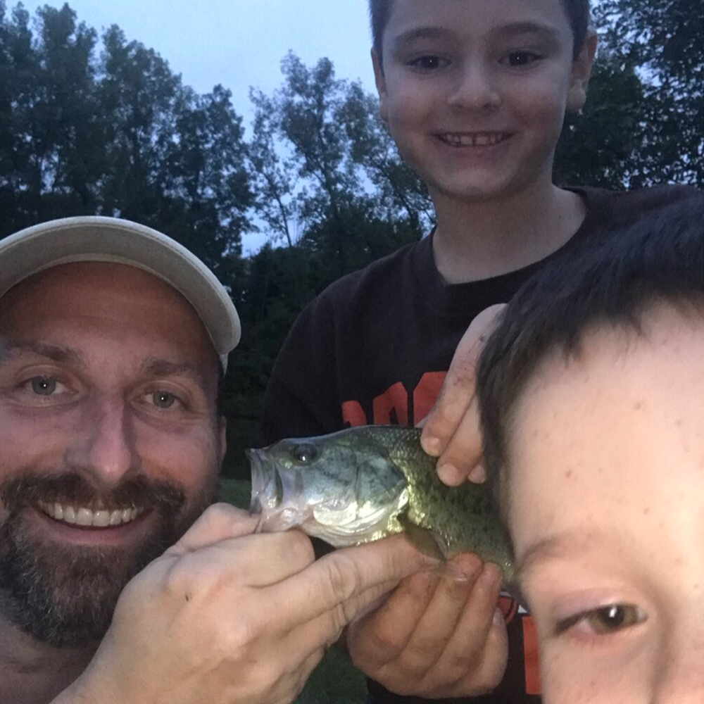 Vince & Owen, two satisfied family fishing class customers