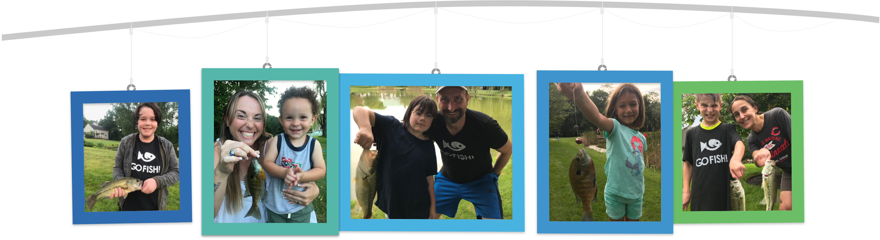 Happy Fishers who attended the Go Fish Academy –Look at their Great Catches!!!
